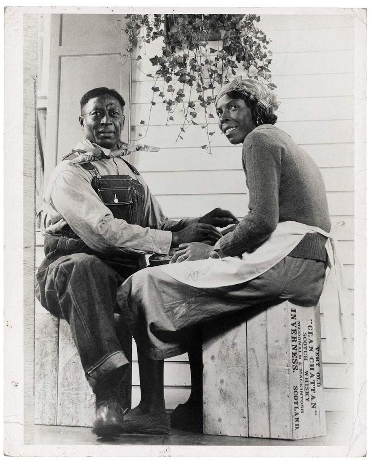Lead Belly and his wife Martha