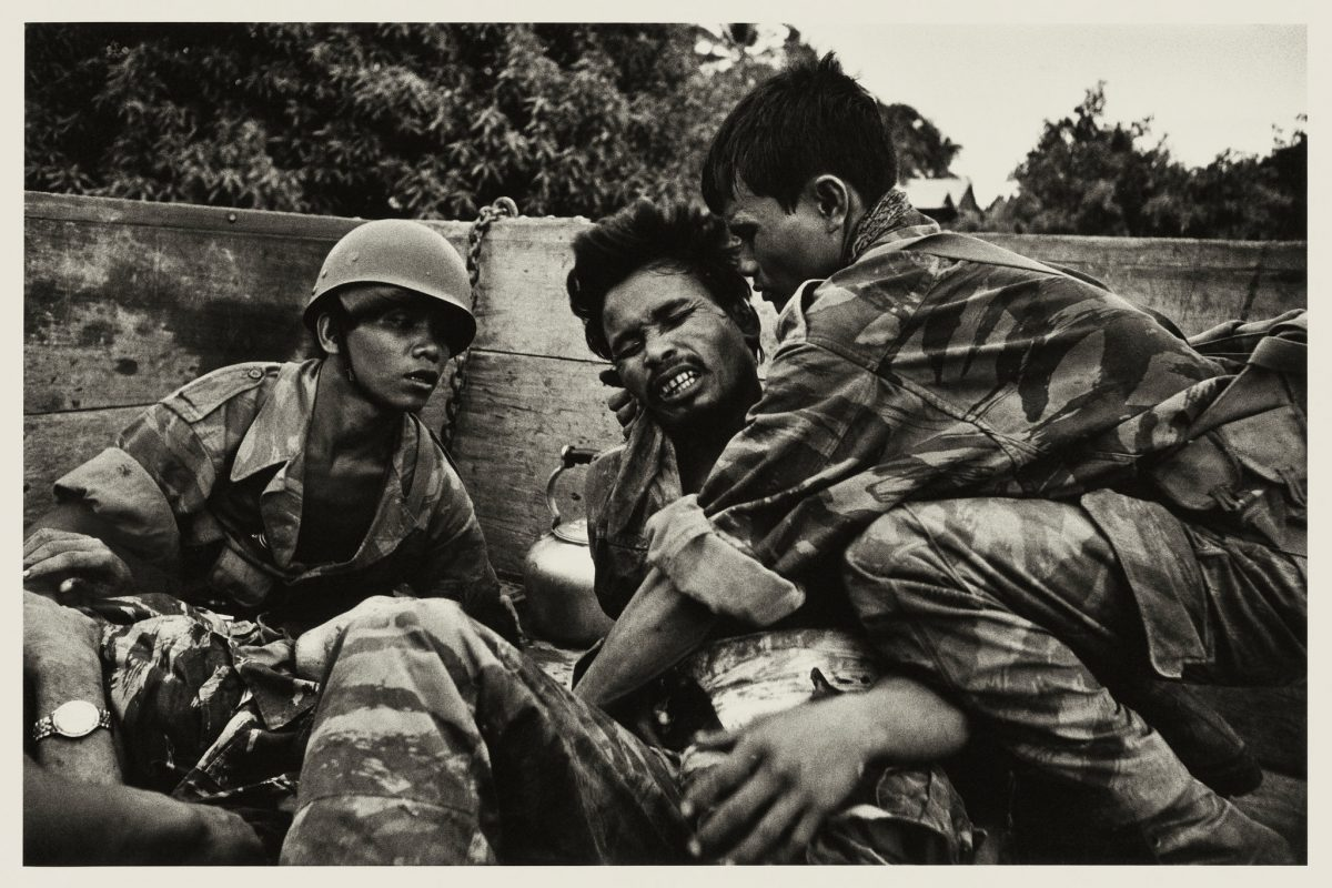 "Don McCullin, ""Dying Cambodian Paratrooper Hit by the Same Mortar Shell That Hit McCullin,"" 1970"