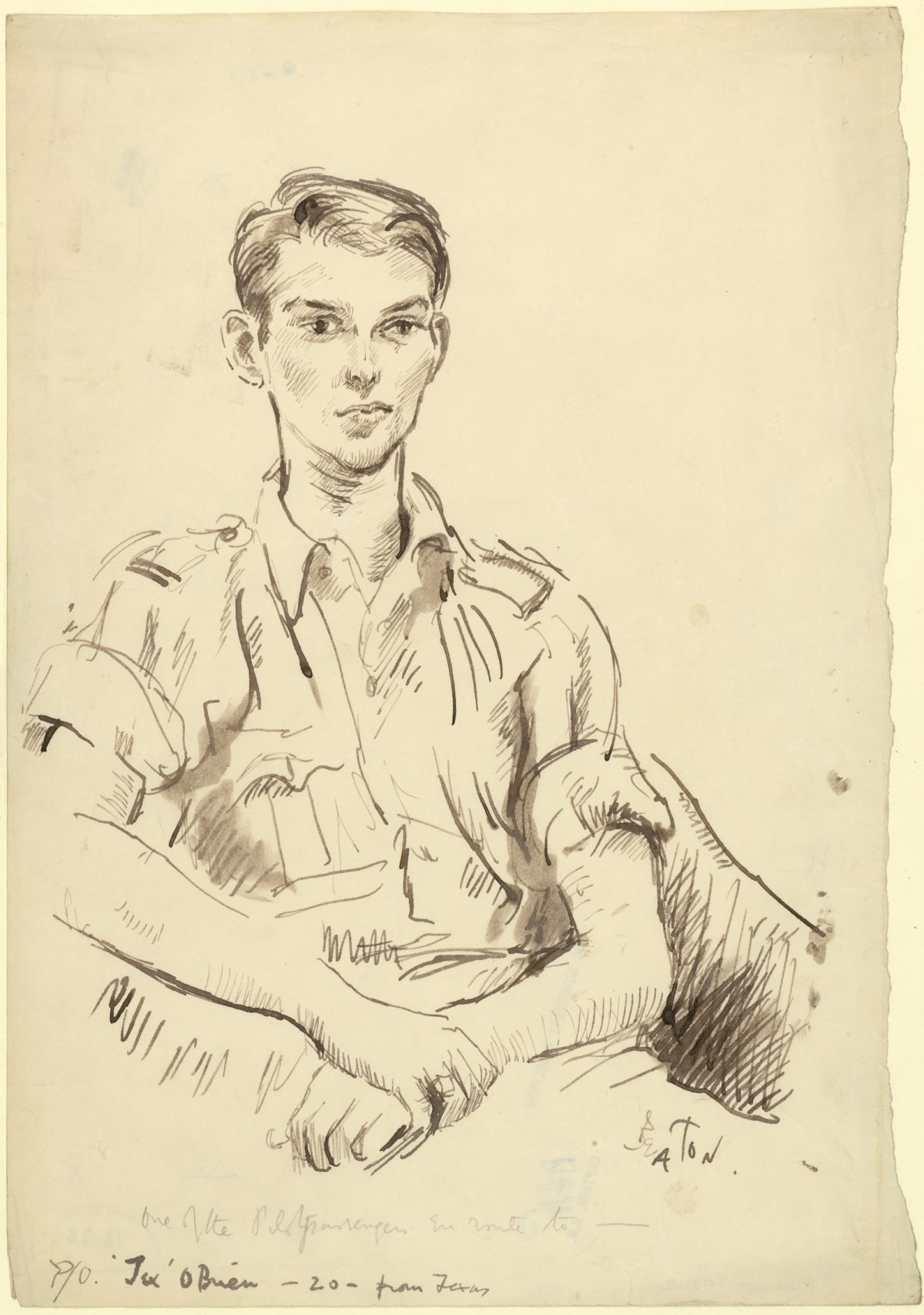 Cecil Beaton, war, drawings