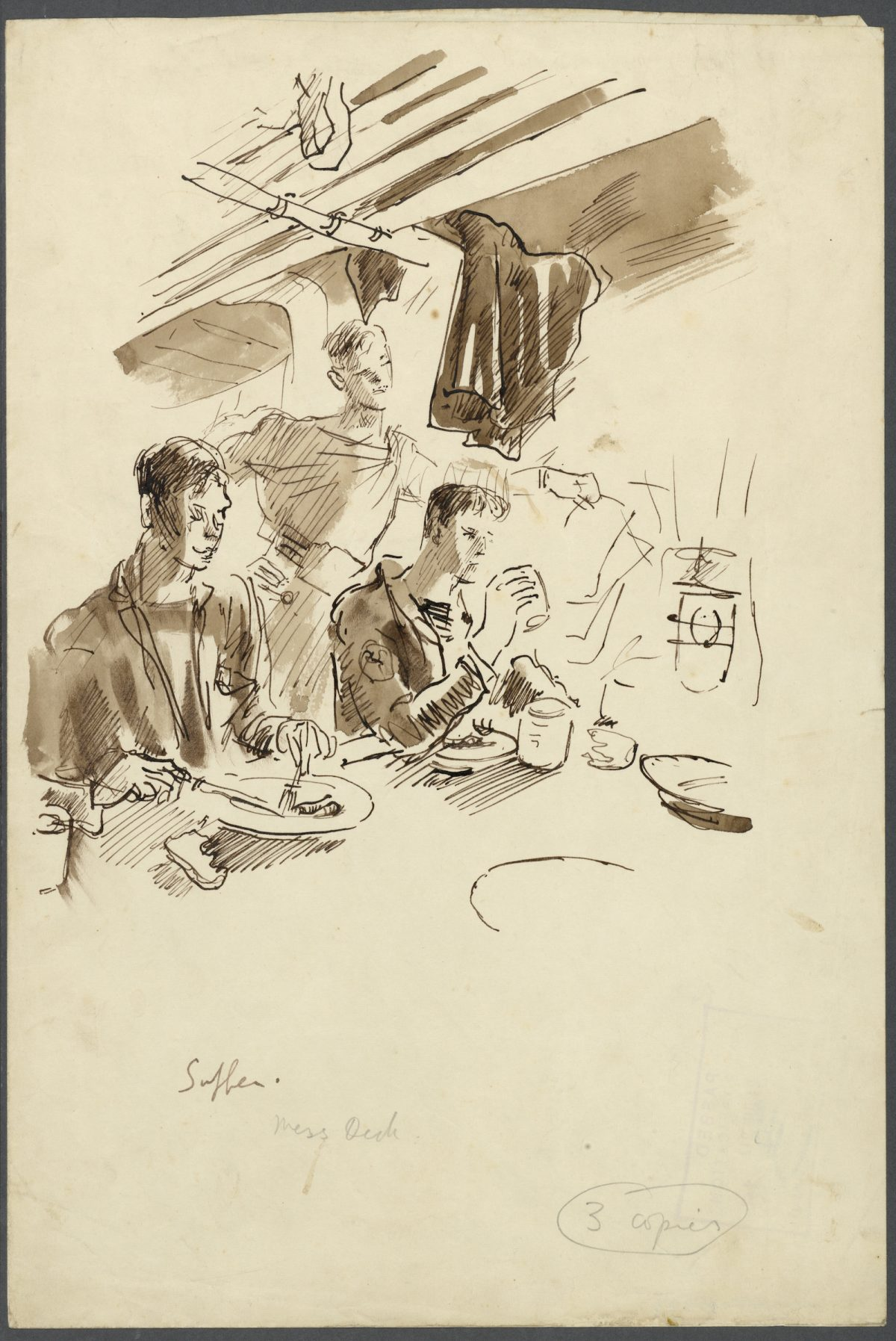Cecil Beaton, war, drawings, Royal Navy