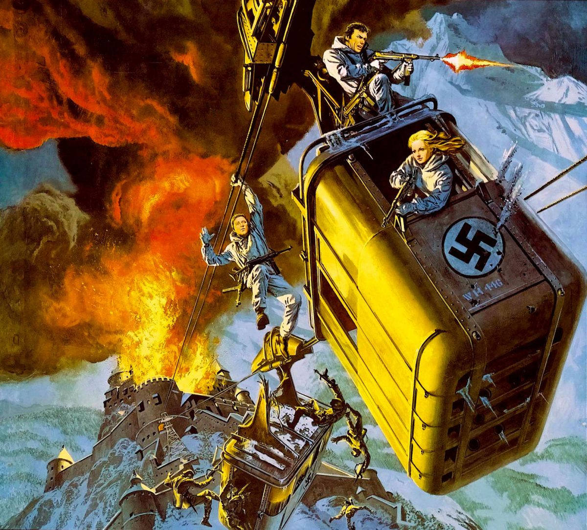 Alistair MacLean, Where Eagles dare, Clint Eastwood, Richard Burton