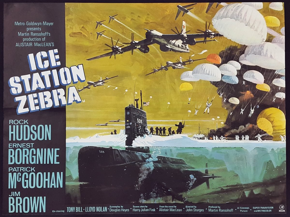Alistair MacLean, Ice Station Zebra, film, Rock Hudson