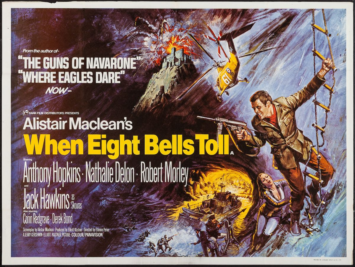 Alistair MacLean, When Eight Bells Toll, Anthony Hopkins, film