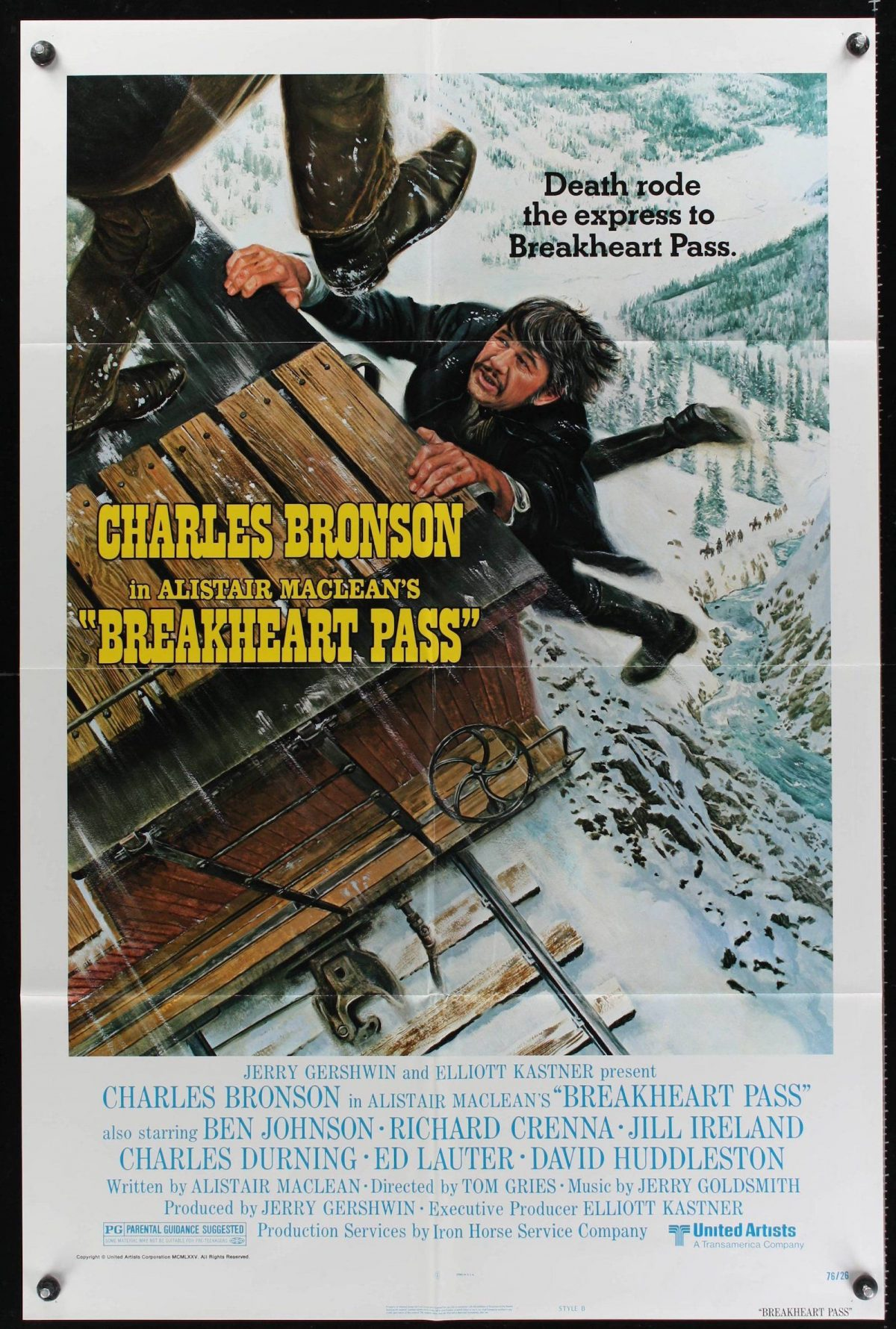 Alistair MacLean, Breakheart Pass, film, Charles Bronson