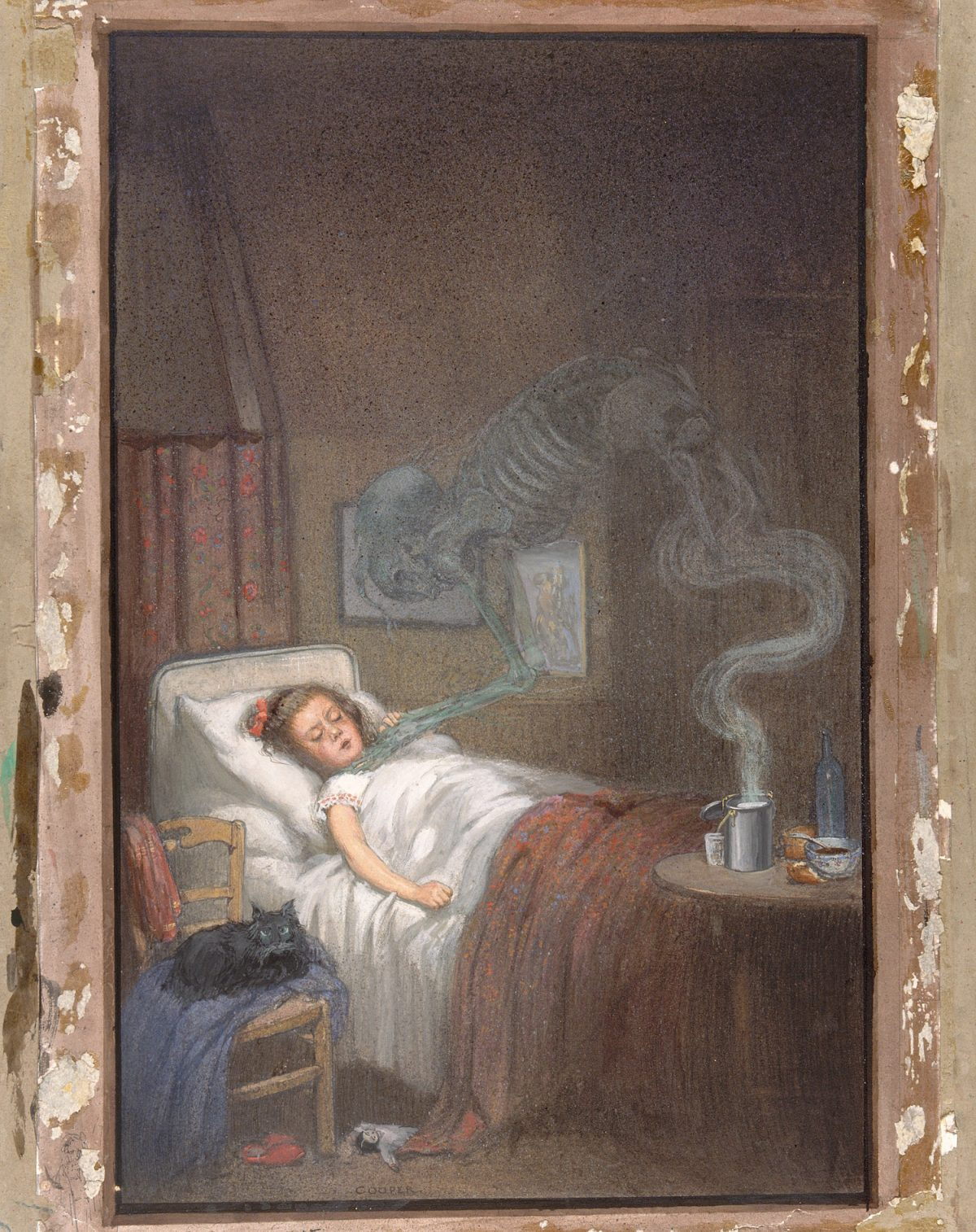 Diphtheria, Richard Tennant Cooper, painting