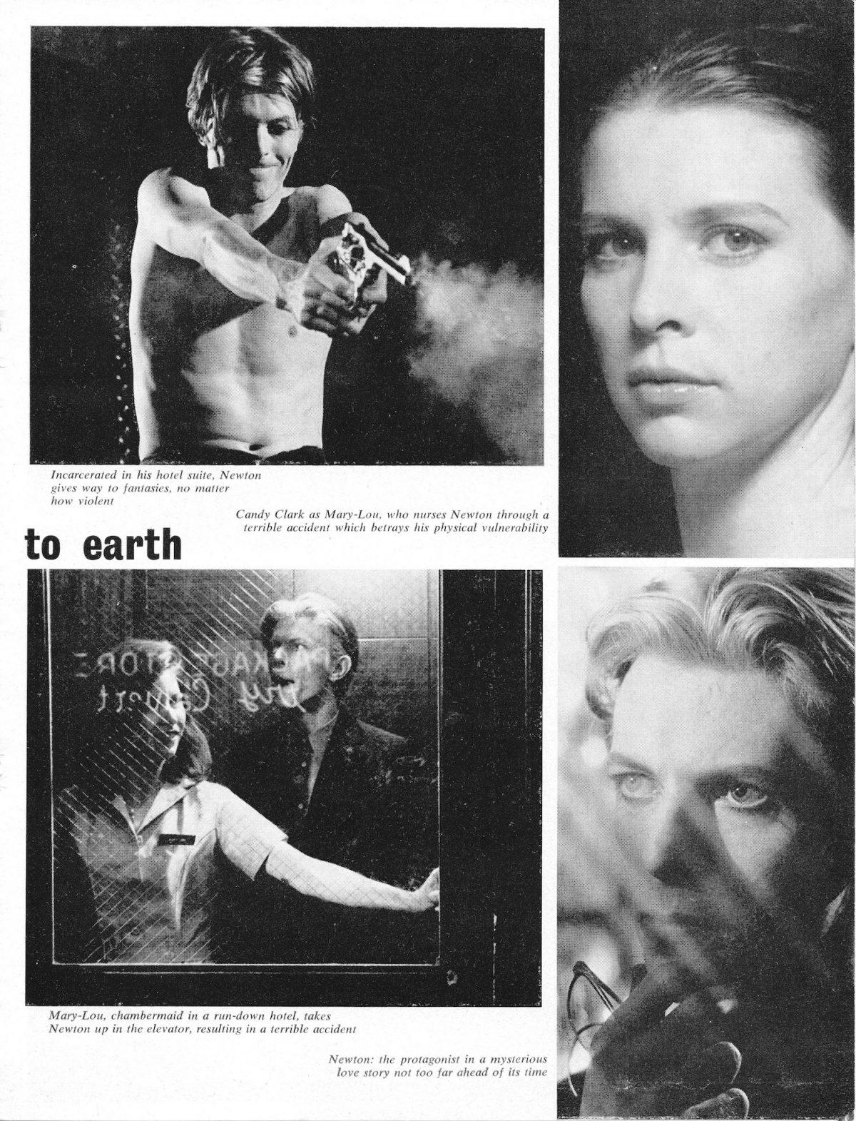 David Bowie, Nicolas Roeg, Man Who Fell To Earth, Films and Filming