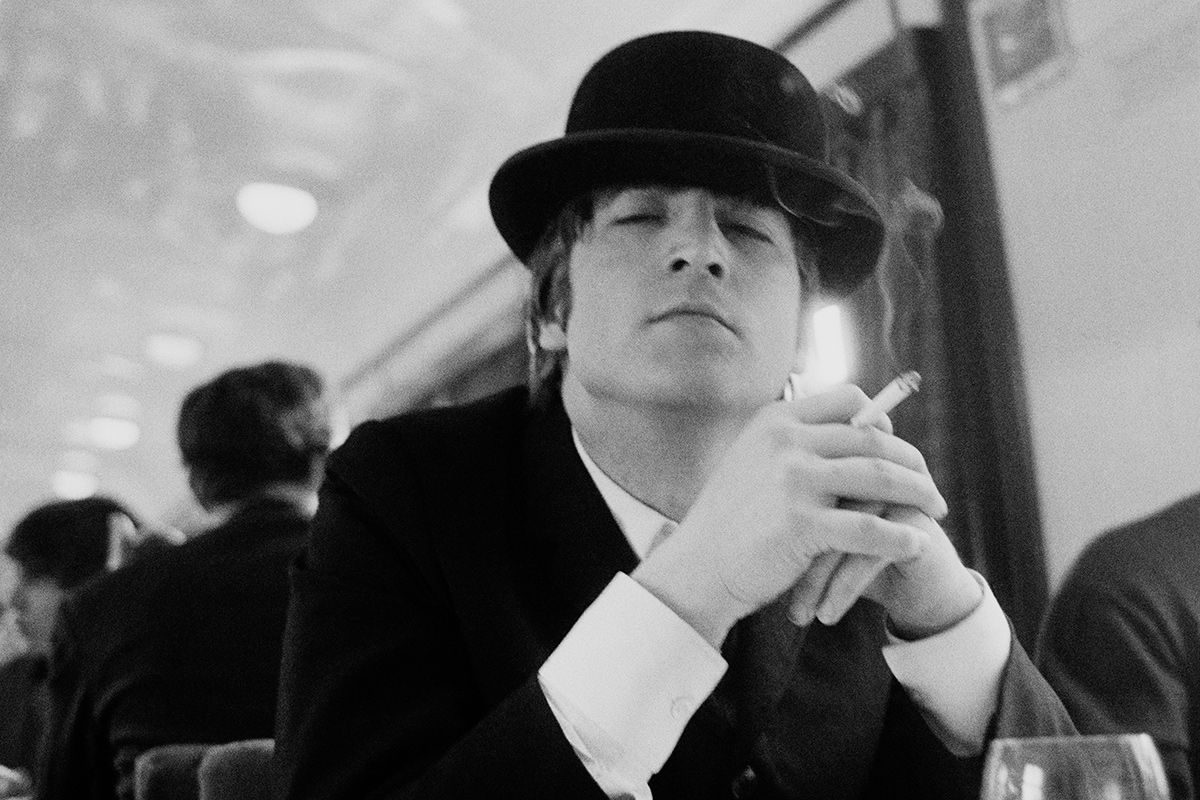 Astrid Kirchherr, John Lennon in Bowler hat, 1964 The Beatles