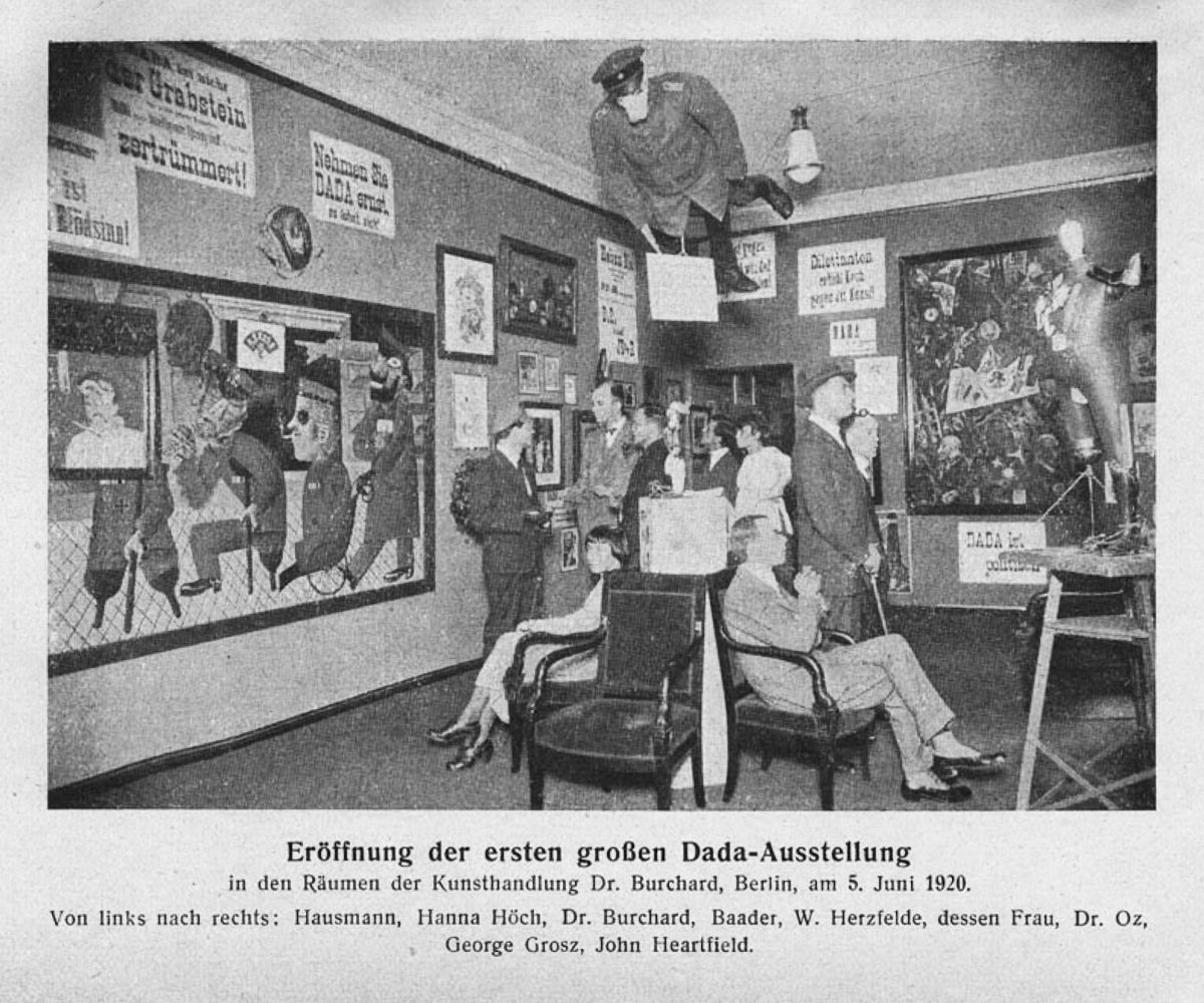 Grand opening of the first Dada exhibition, Berlin, 5 June 1920
