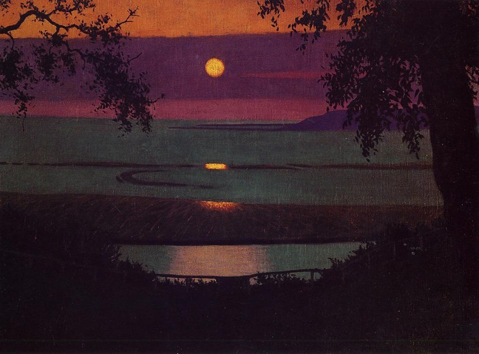 Felix Vallotton , Sunset, 1918, Private Collection