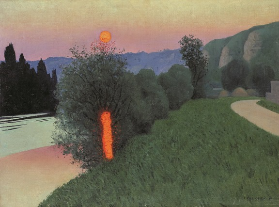 Félix Vallotton (1865-1925) Evening in Andelys, 1924. Oil on canvas