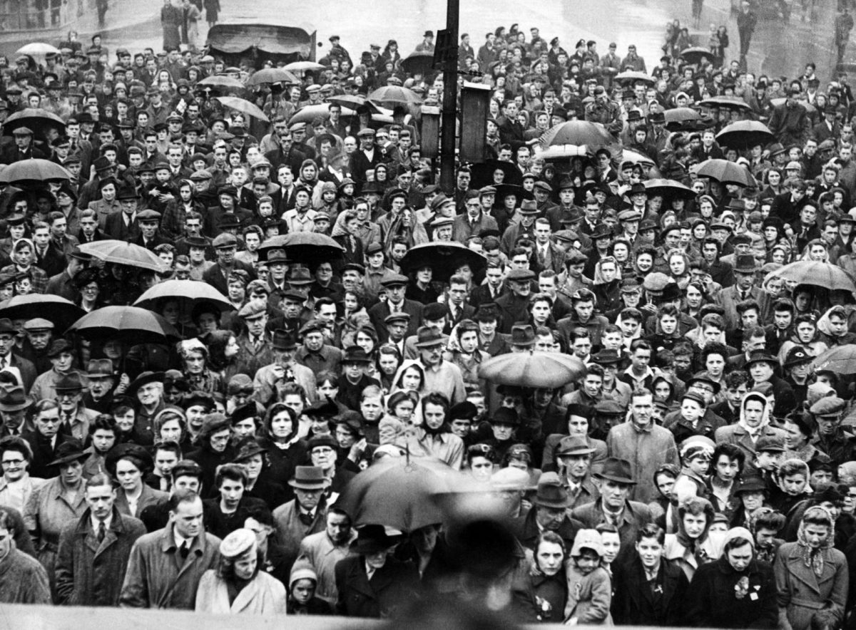 VE Day scenes in Teesside. 8th May 1945.