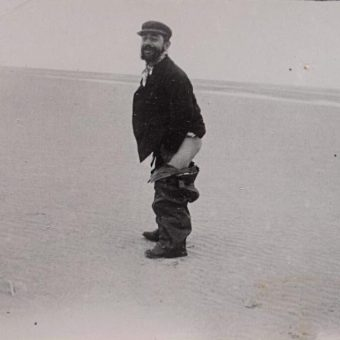 Four Photographs of Toulouse-Lautrec Defecating On A Beach – 1898