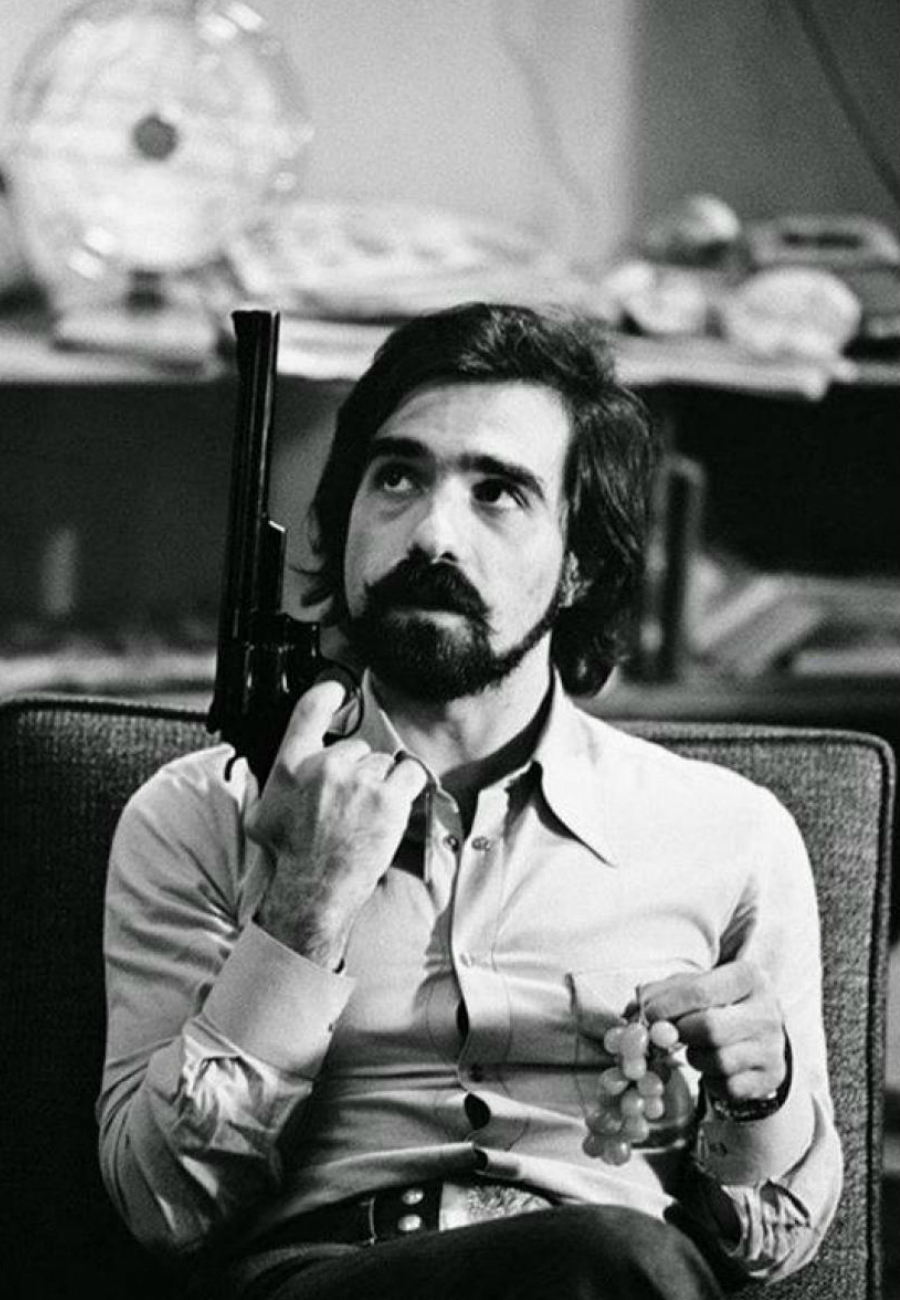Martin Scorsese with handgun