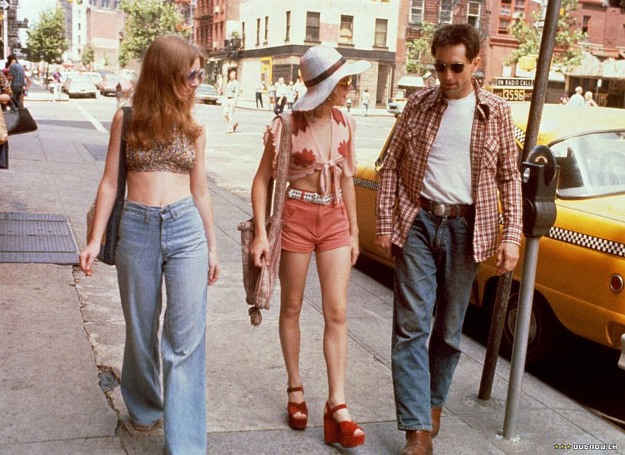 Jody Foster and Robert De Niro on the set of Taxi Driver