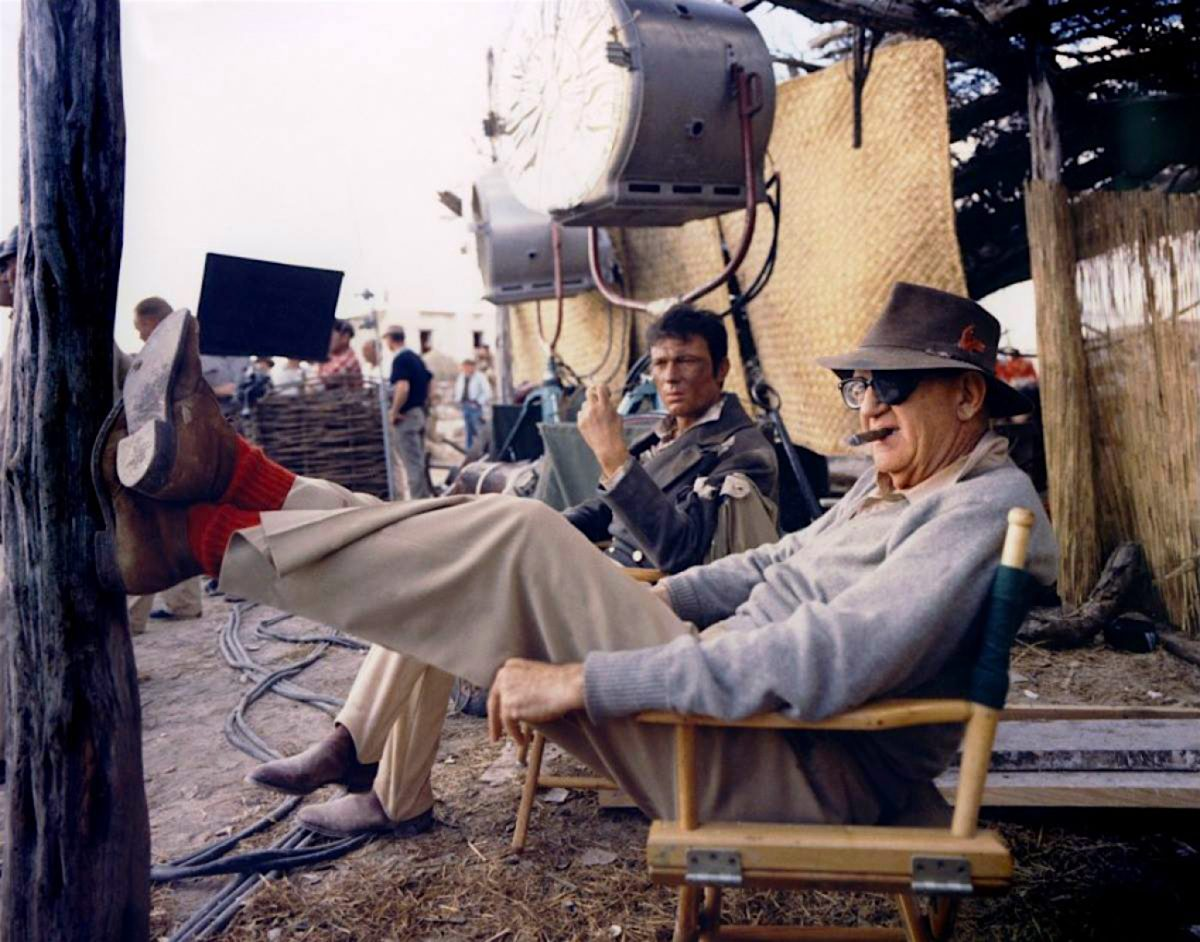 John Ford, director, filming