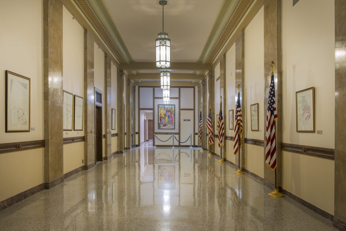 Carol M Highsmith, America, photography, hallways, court house, North Carolina