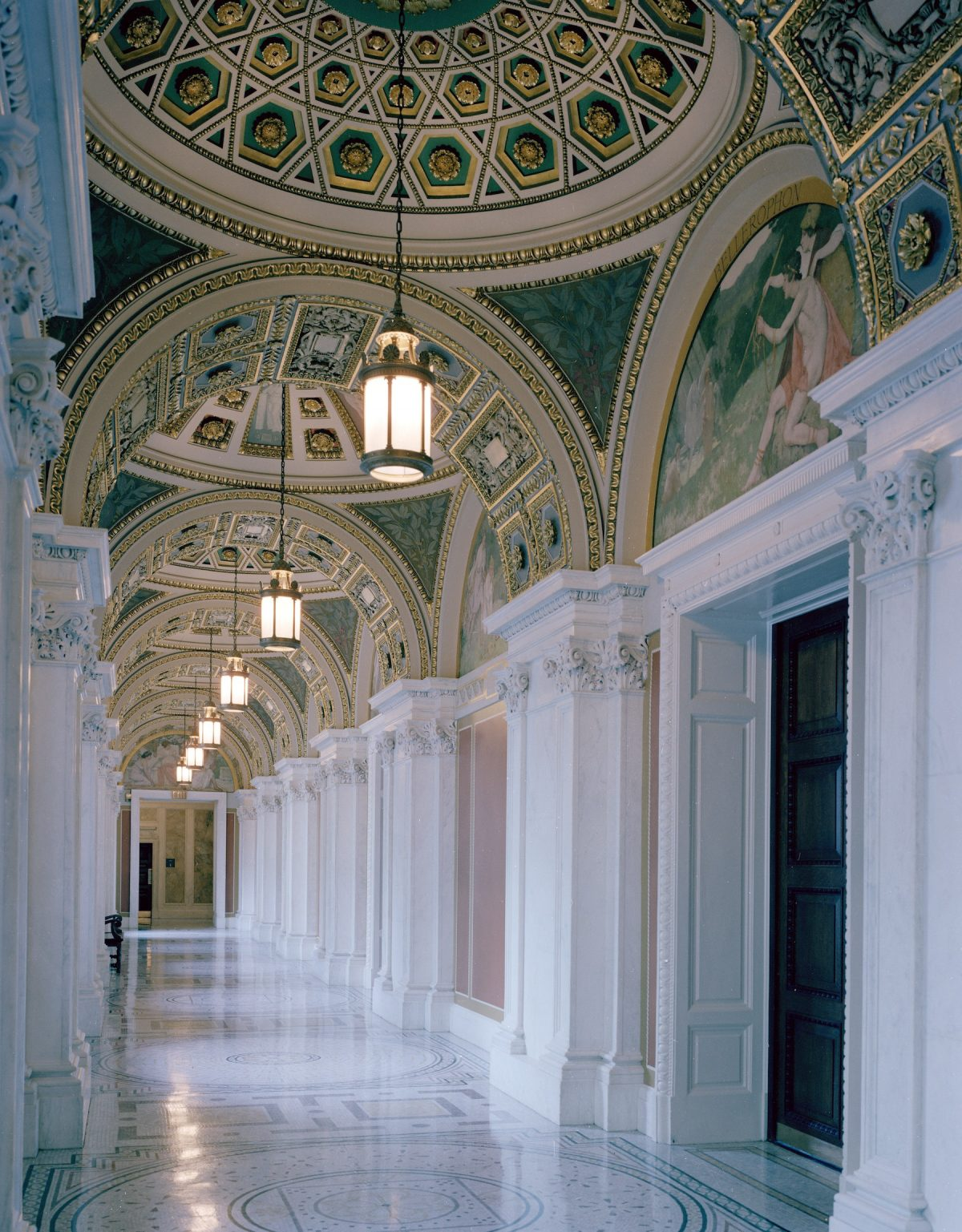 Carol M Highsmith, America, photography, hallways, Washington DC