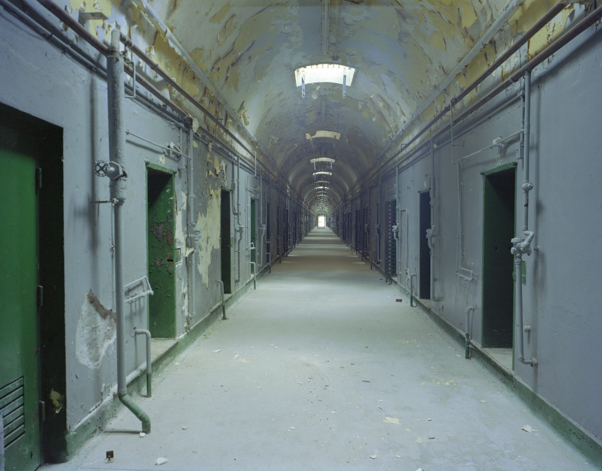 Carol M Highsmith, America, photography, hallways, prison, Philadelphia