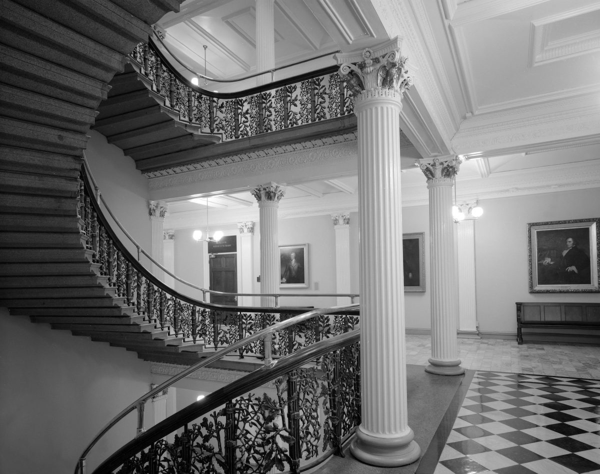 Carol M Highsmith, America, photography, hallways, US Treasury Dept, Washington DC