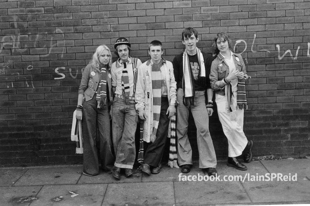 Manchester United fans art print 1970s