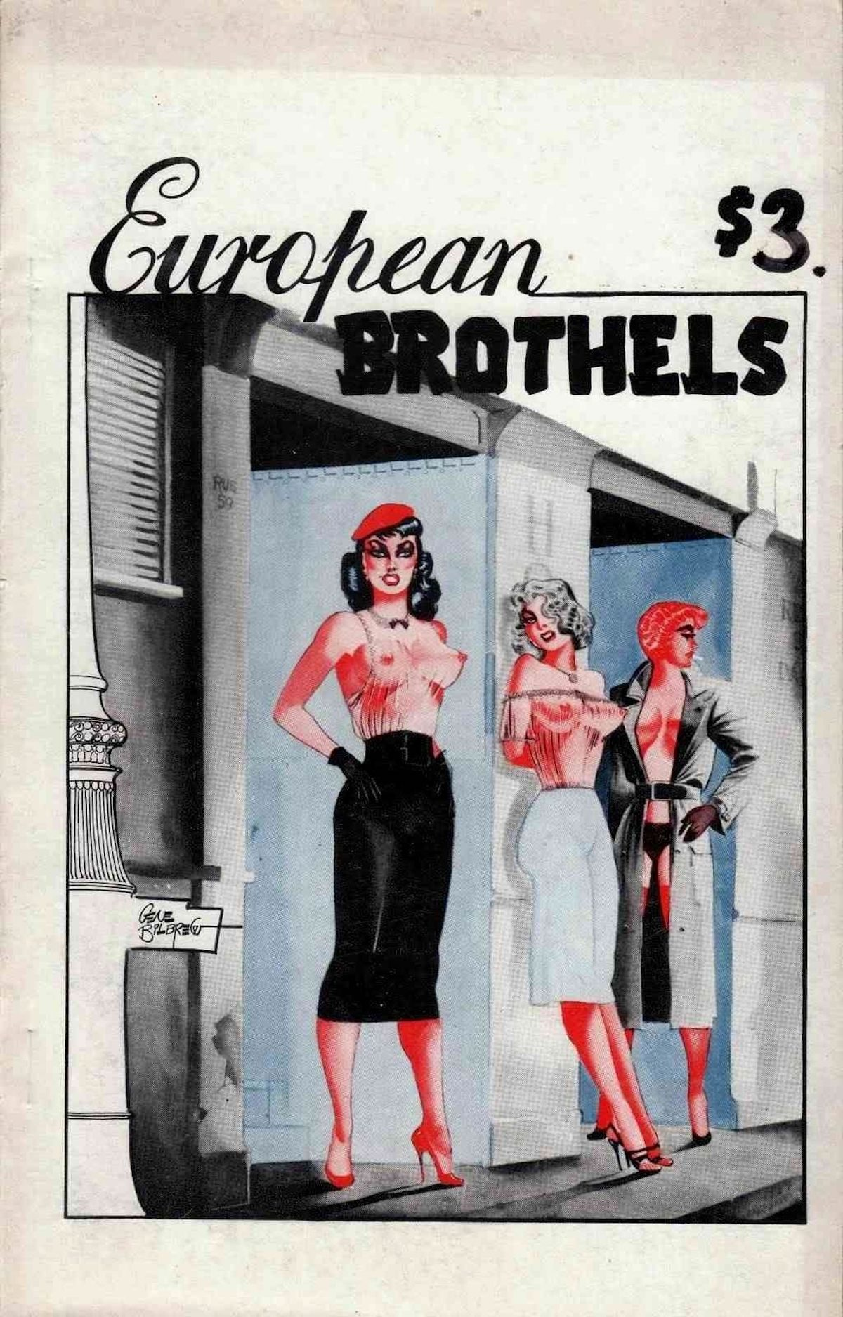 Eugene Bilbrew, cover for 'European Brothels' (c. 1960)