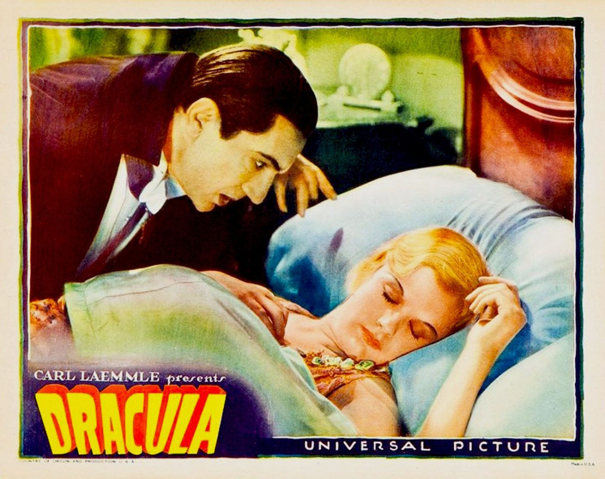 Dracula, Bela Lugosi, lobby card, horror movie, 1931