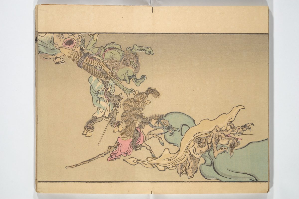 Kawanabe Kyōsai, One Hundred Demons, illustration