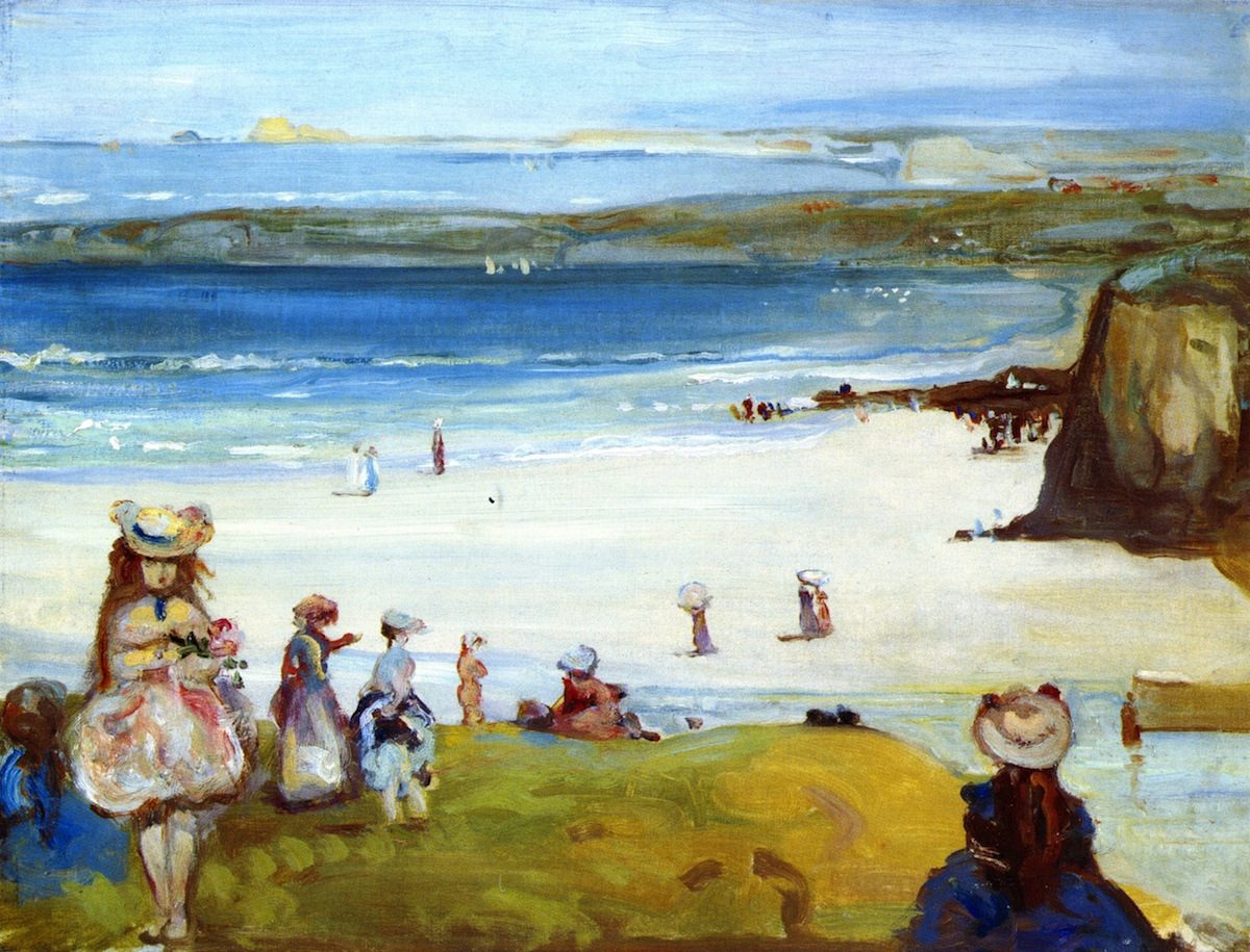 Charles Conder, painting, Newquay