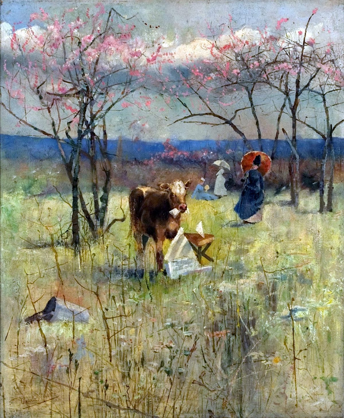 Charles Conder, painting, early taste for literature