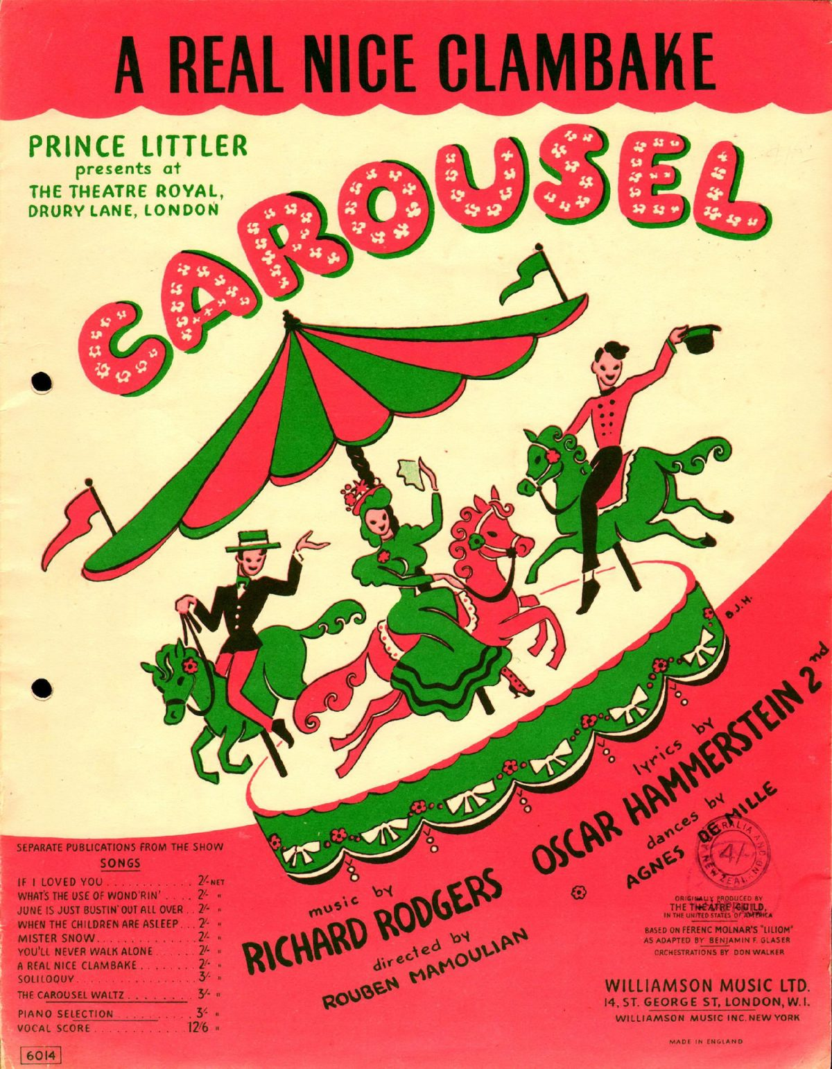 Carousel, Theatre Royal Drury Lane, 1950s