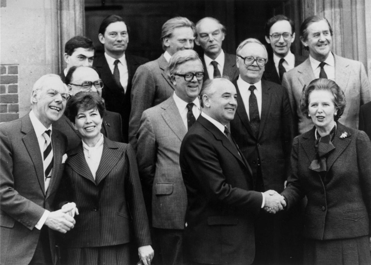 The Collapse of the Soviet Union in Pictures margaret thatcher gobachev