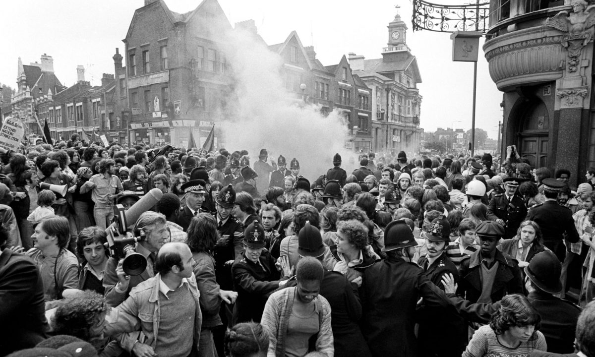 National Front march Lewisham 1977