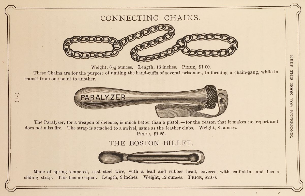 police equipment catalogue boston 1891