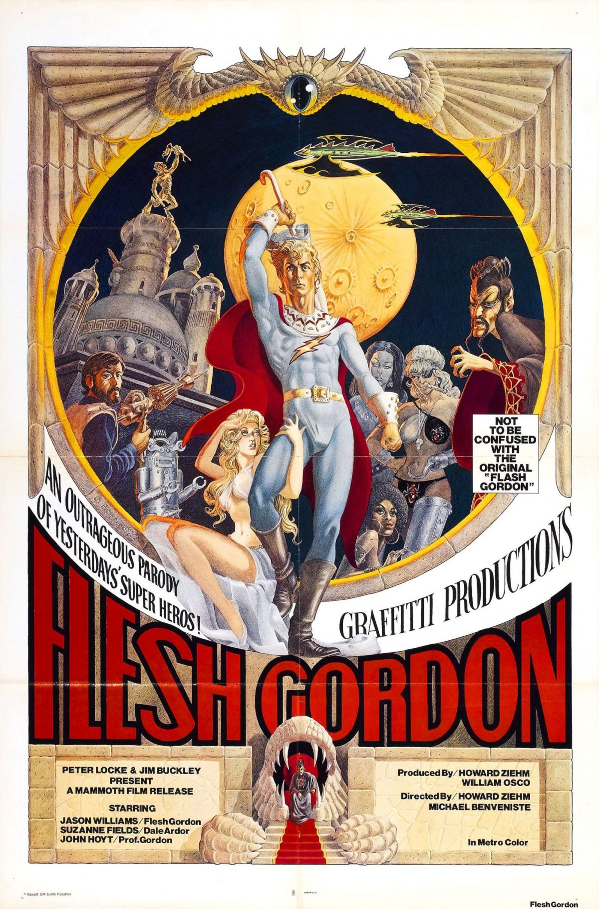 Flesh Gordon, sexploitation, movie poster, film