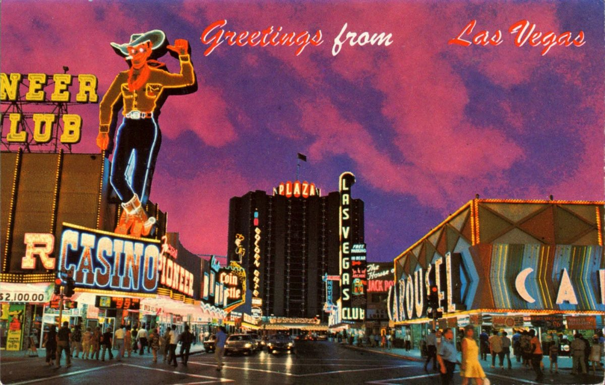 Las Vegas, casinos, postcards