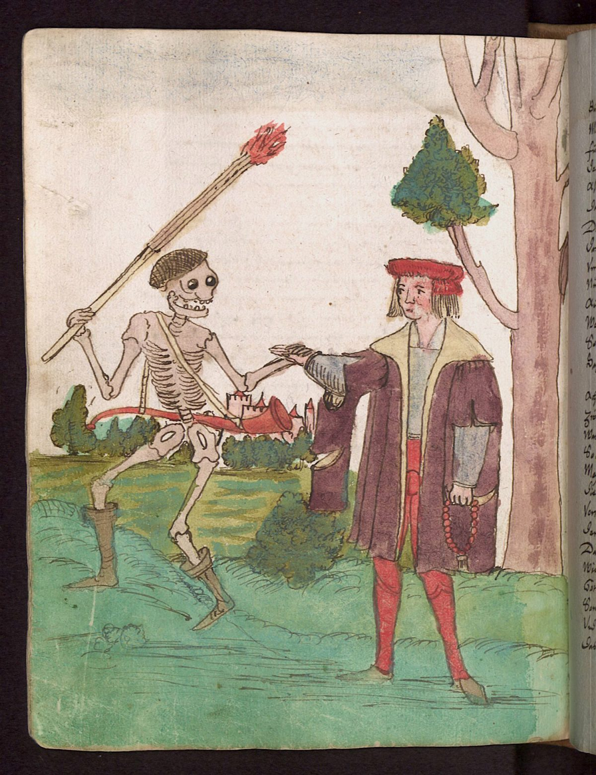 Wilhelm Werner von Zimmer, Dance of Death, illustration, 1540