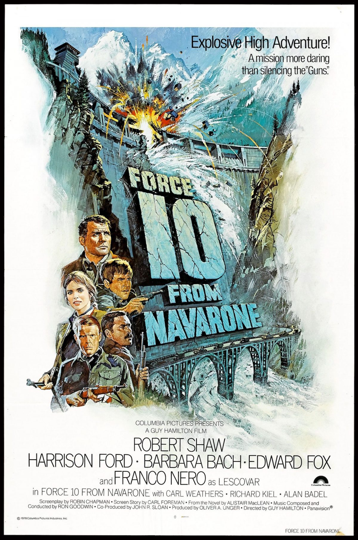 Alistair Maclean, Force 10 from Navarone, film poster