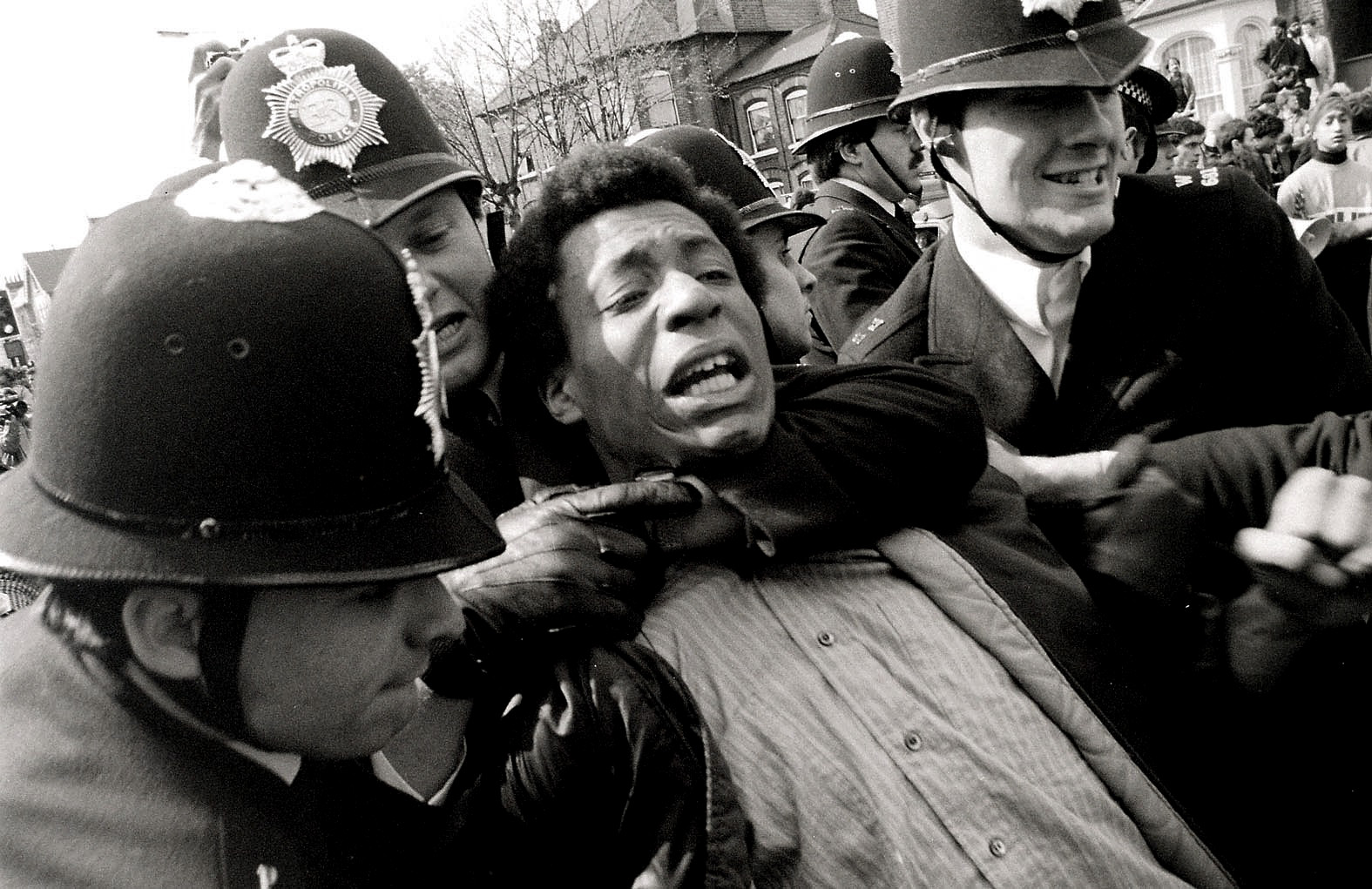 Police arrests at Newham 7 demo, London - 1985