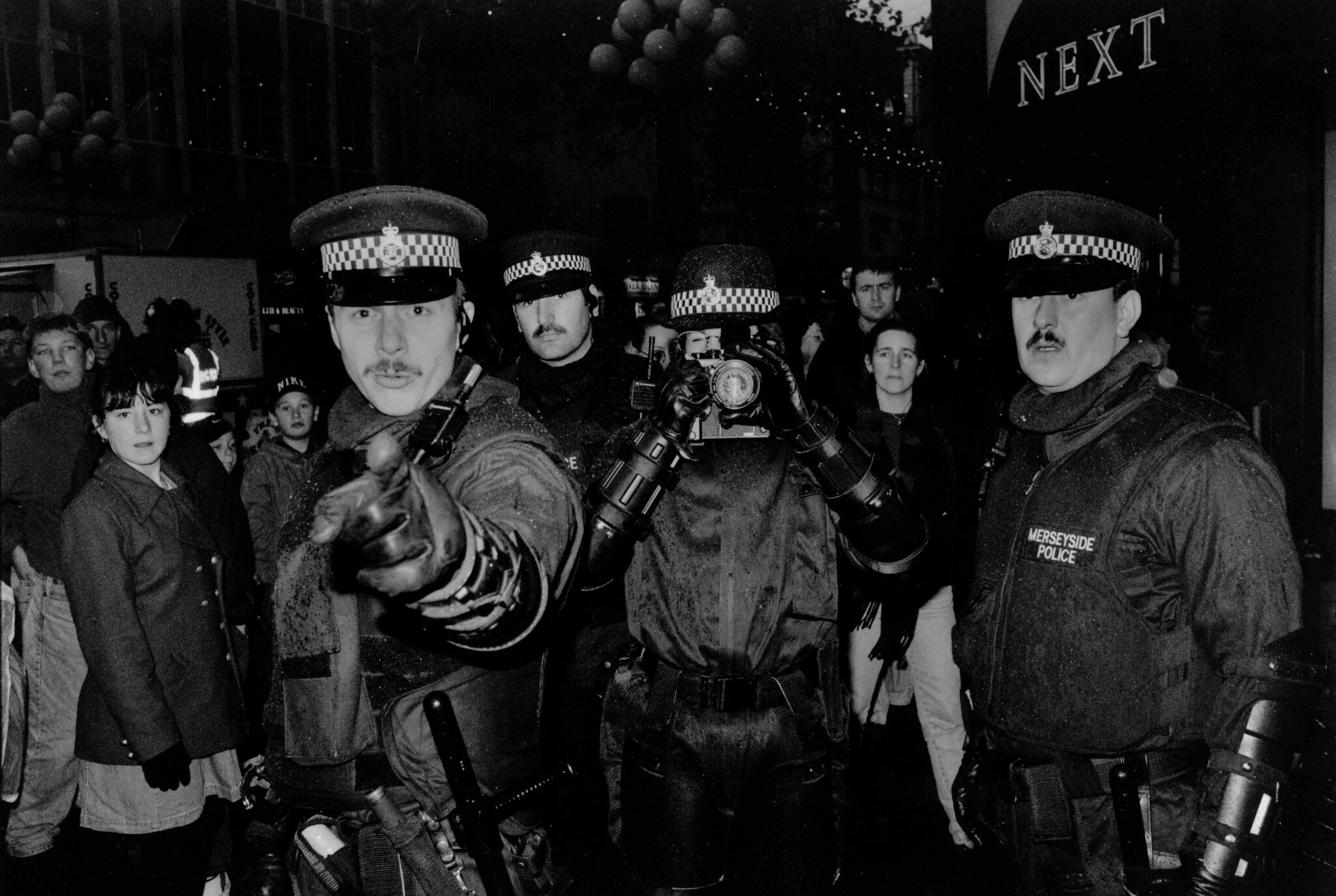 Coppers at a protest against Argos in support of Dockers.