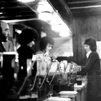 People Spending An Evening in Carlisle's Oldest Pub in 1975