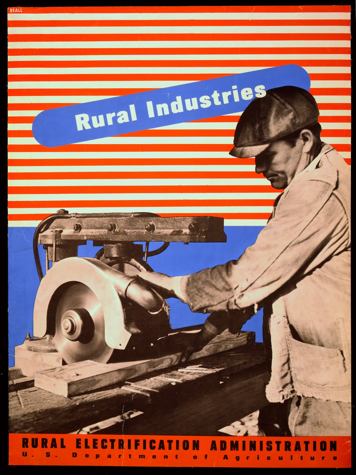 'Rural industries' Rural Electrification poster by Lester Beall - 1930