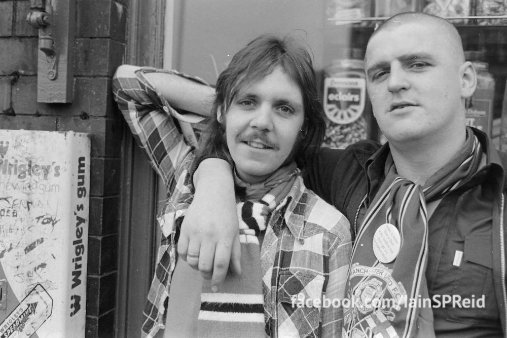 Manchester United and Manchester City football fans in the 1970s by Iaian S P reid