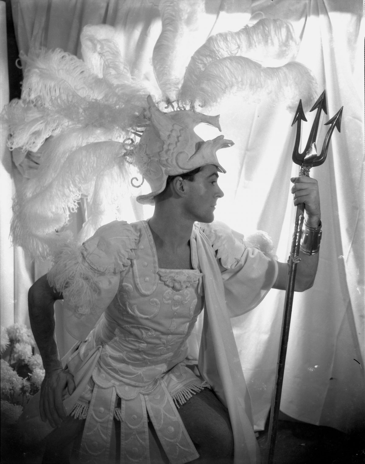 Oliver Messel in his costume for Paris in Helen!, 1932