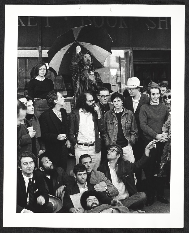Gathering of Beat Poets, City Lights Bookstore, San Francisco, 1965 - Archives of American Art, Smithsonian Institution Washington, D.C.