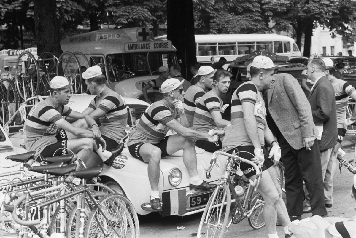Riders taking a break (1960)