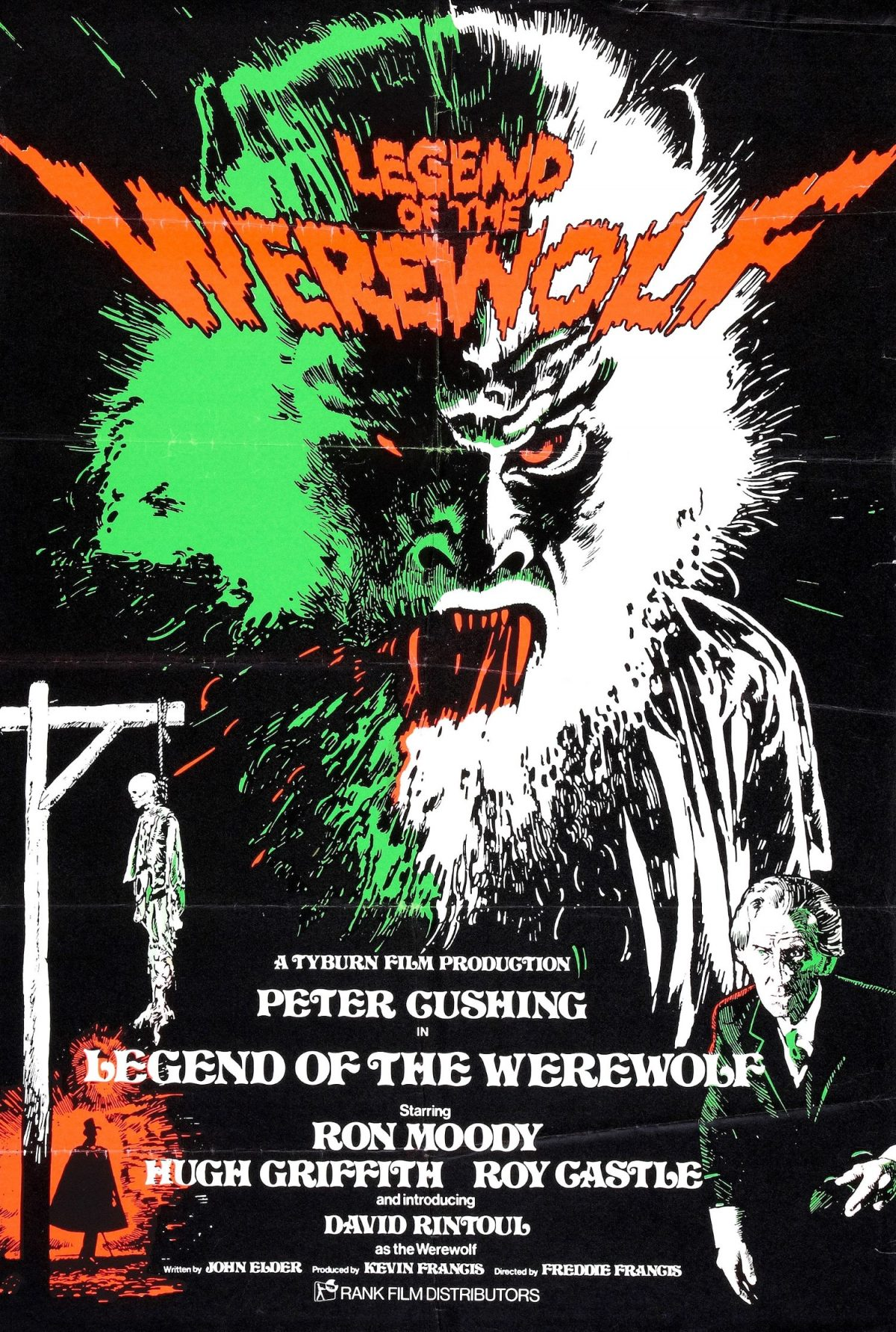 Legend of the Werewolf, poster, film, Peter Cushing