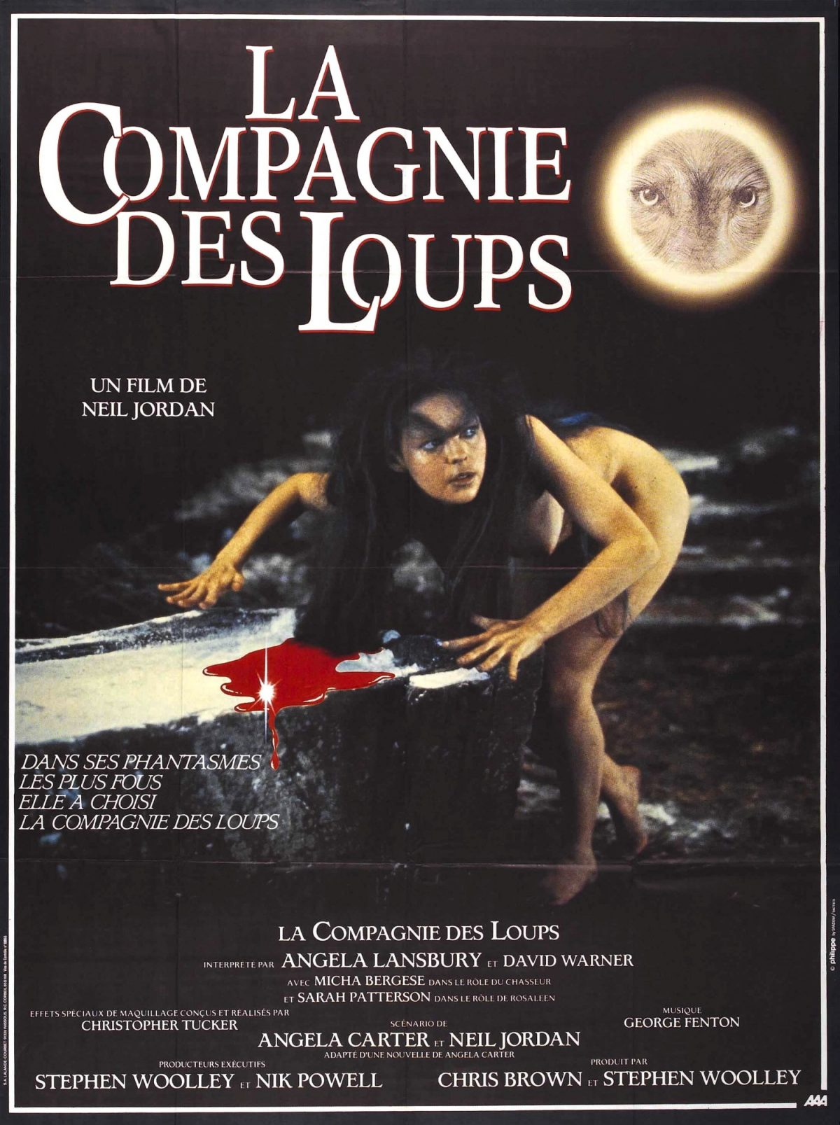 Company of Wolves, poster, horror film, Neil Jordan