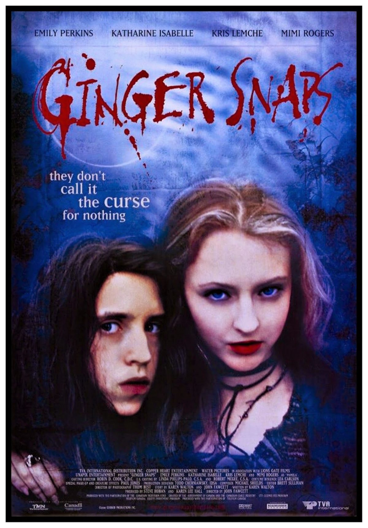 Ginger Snaps, poster, film, horror