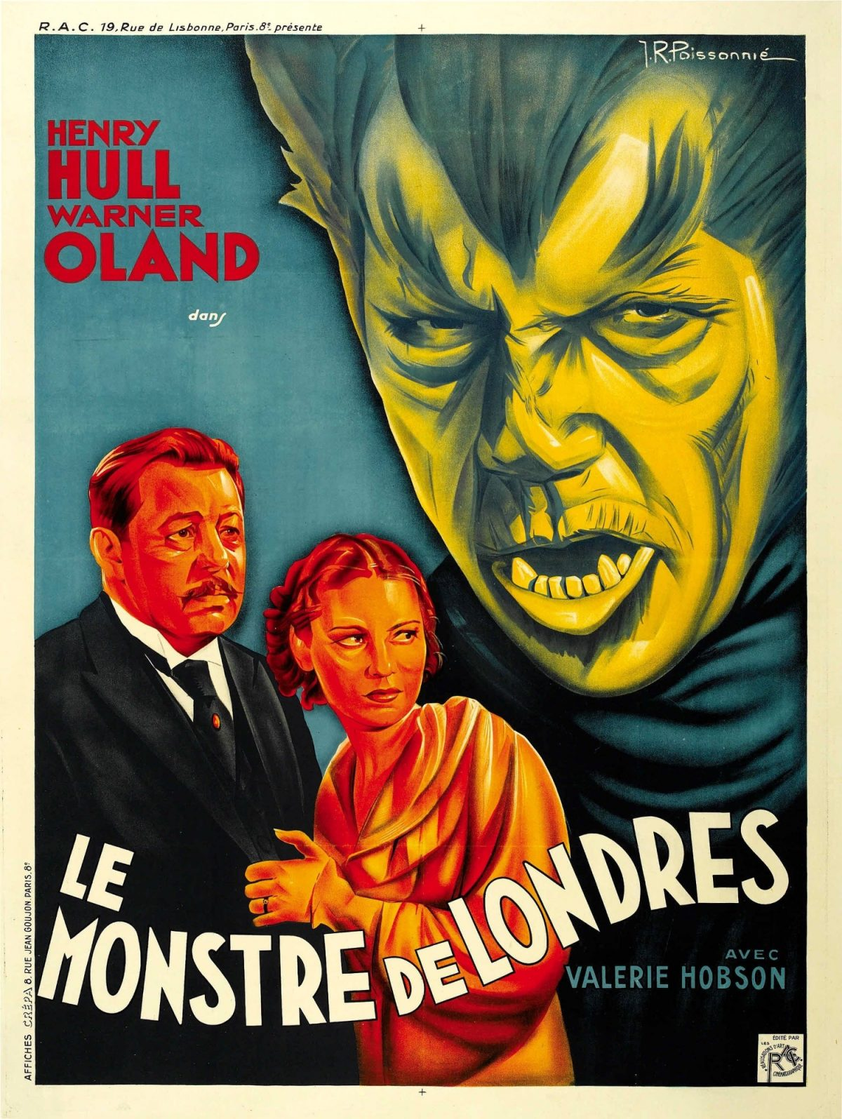 Werewolf of London, film, poster, horror, Henry Hull