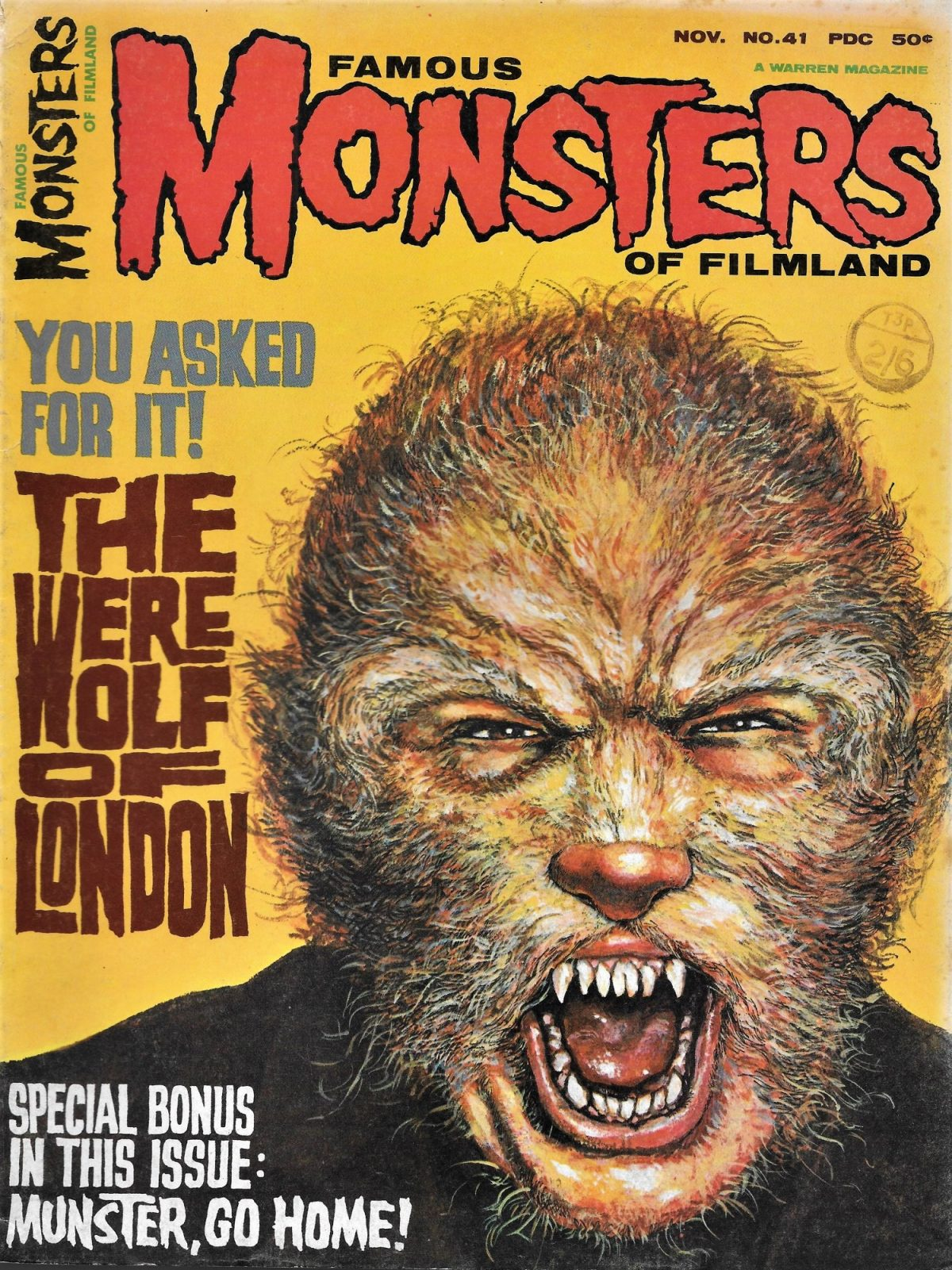 Werewwolf of London, Monsters, magazine, Henry Hull, film
